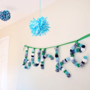 how to make pom pom name pennant