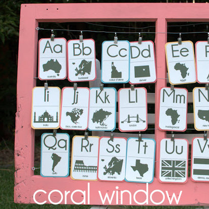 nursery decor- upcycled window