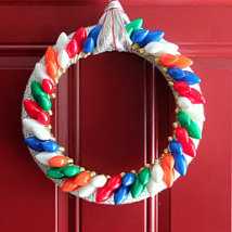kojotutorial: a very merry twinkle wreath