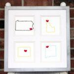 how to make home-sweet-home map art
