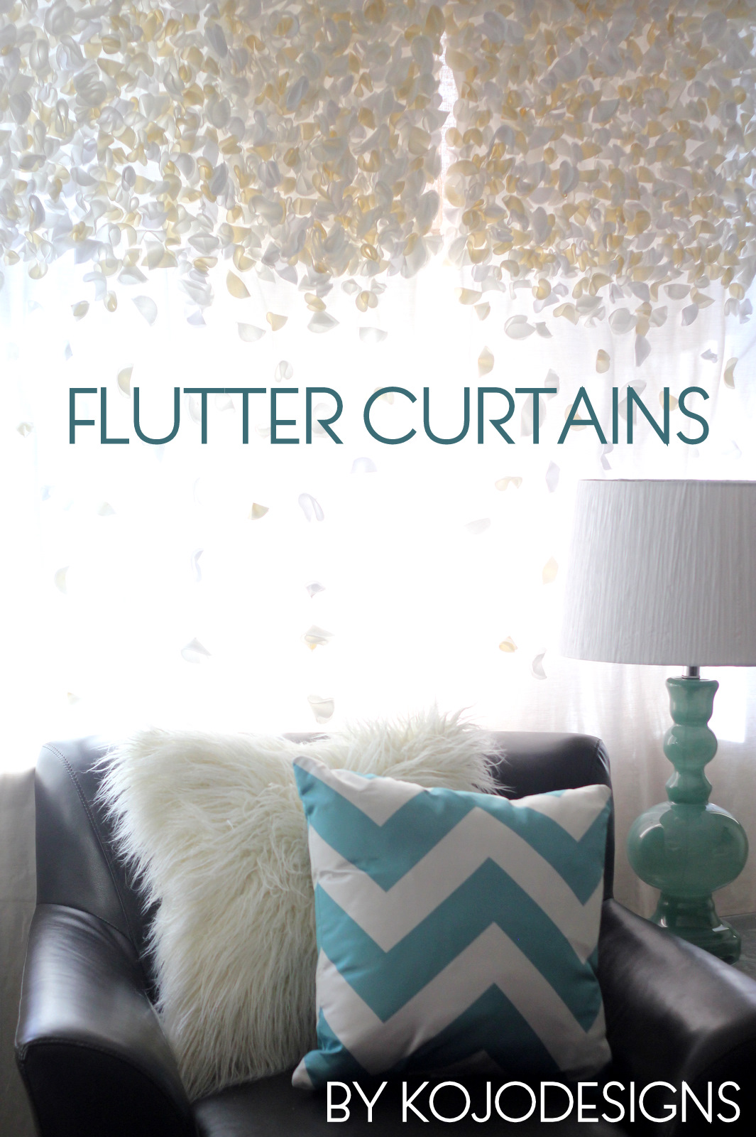 anthropologie knock-off flutter curtains (SYTYCS week 2)