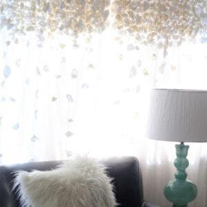 anthropologie inspired flutter curtains