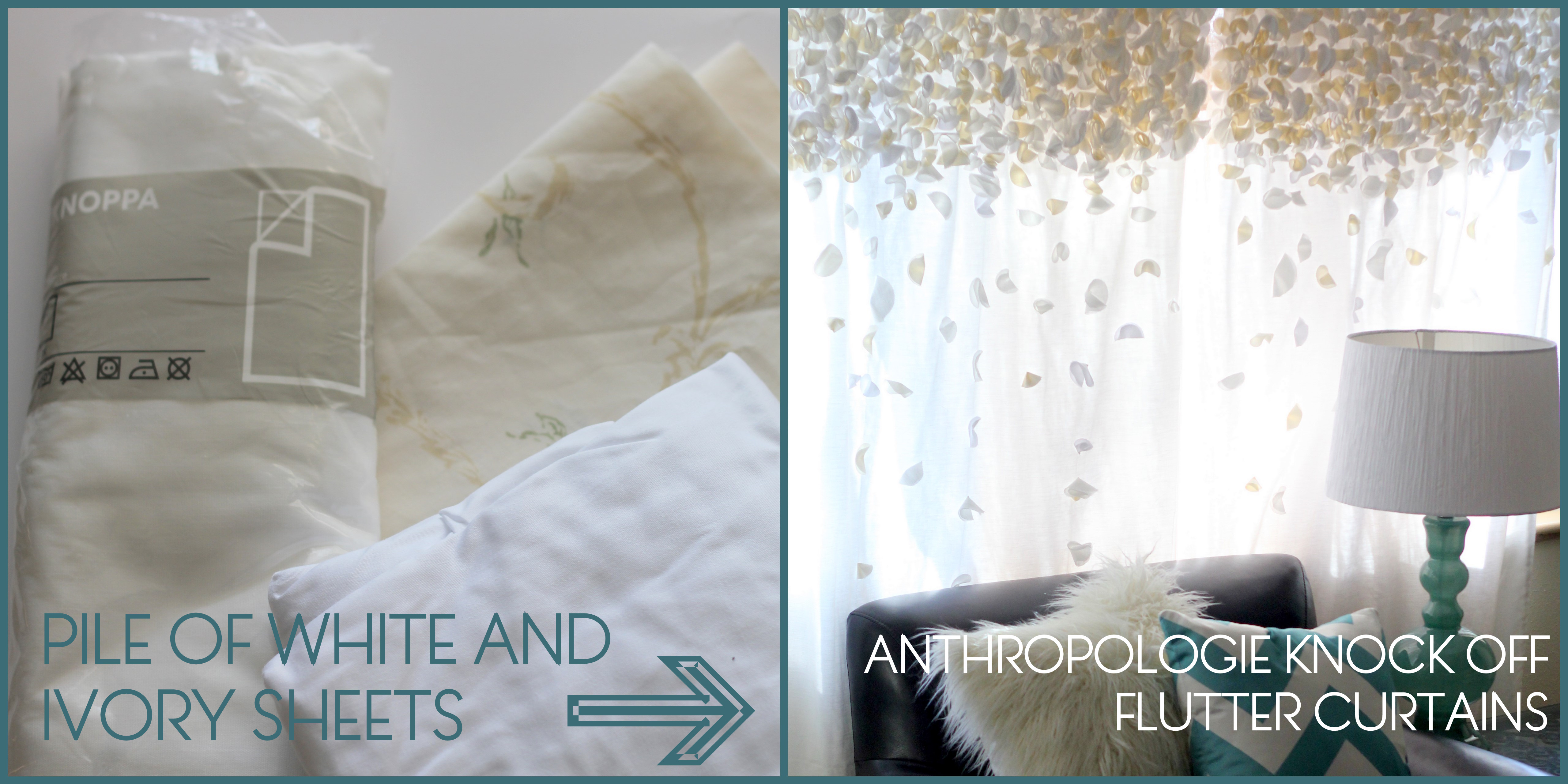 Anthropologie Knock Off Flutter Curtains SYTYCS Week 2