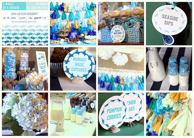 few examples a whale themed baby shower for a friend with a