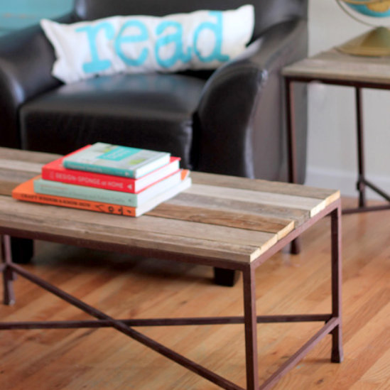 Diy reclaimed wood coffee and side tables