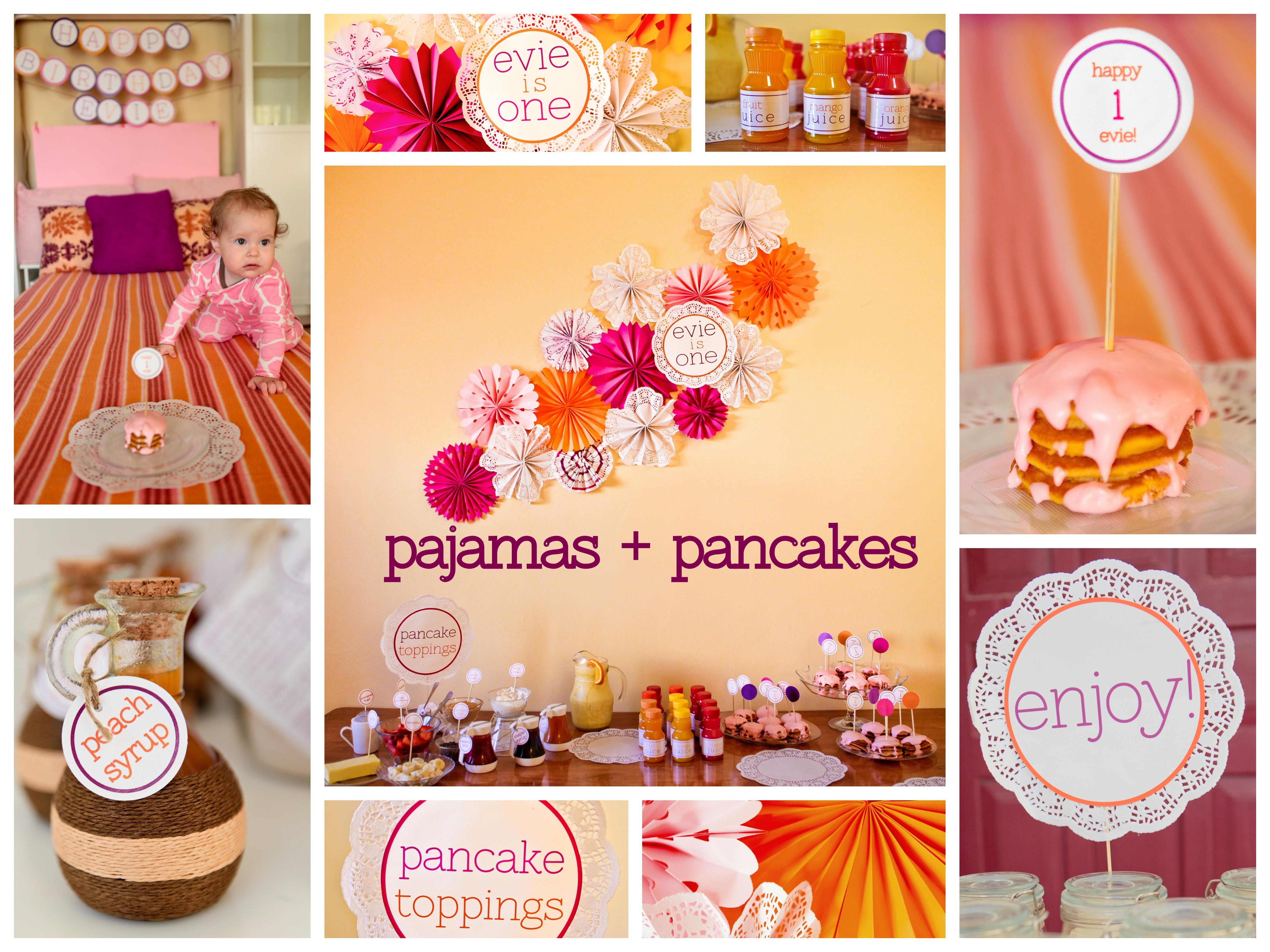 Pajamas pancakes first birthday party about 4 months ago keadryn and i started talking about evies birthday party she is going to be a party planner i can feel it she loves the brainstorming filmwisefo
