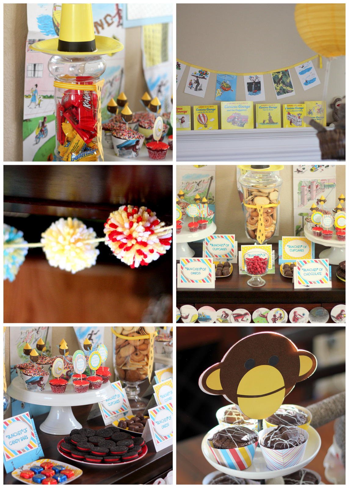 curious george baby shower how-
