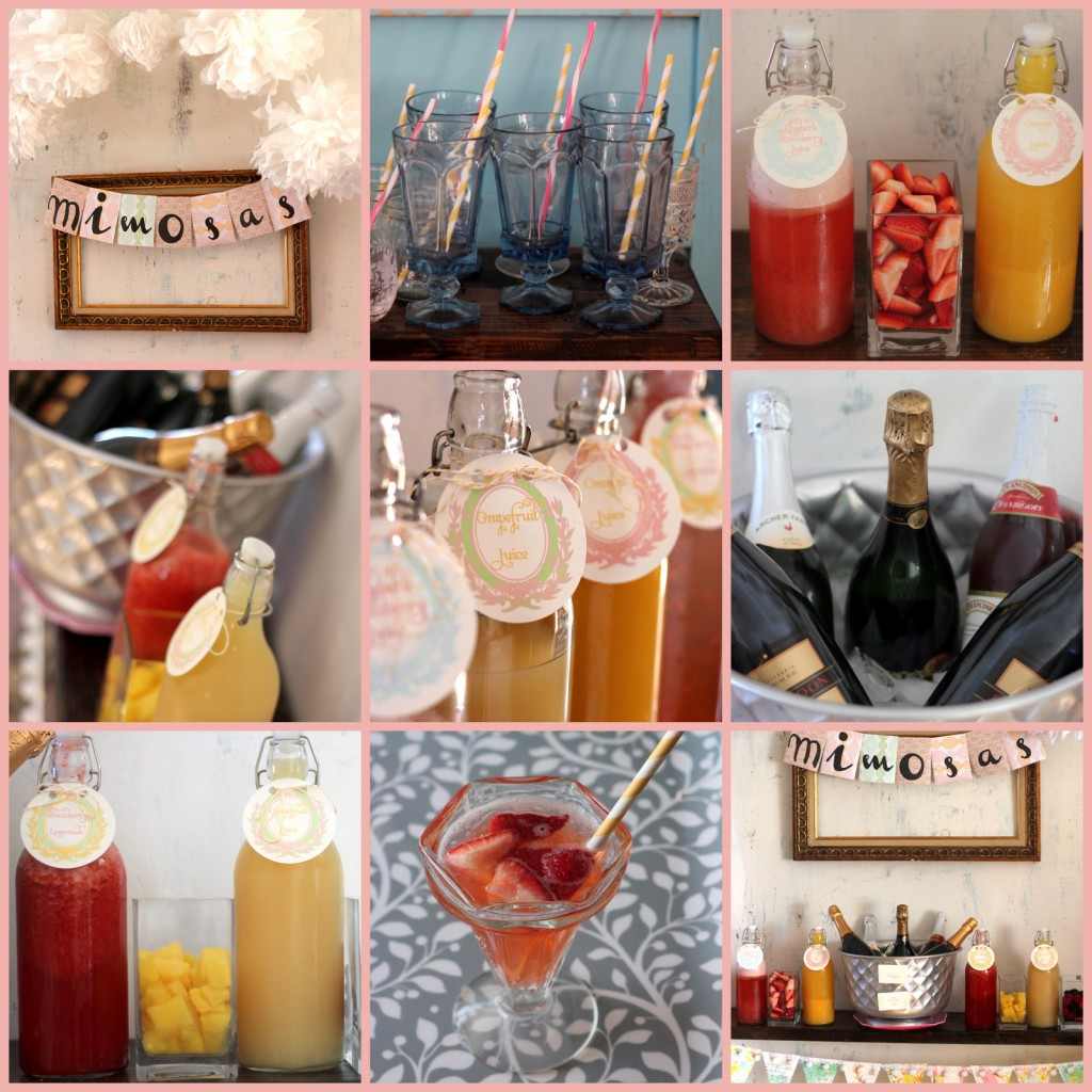 Brunch Food Ideas For Baby Shower: Mimosa Bar How To (and Shopping List