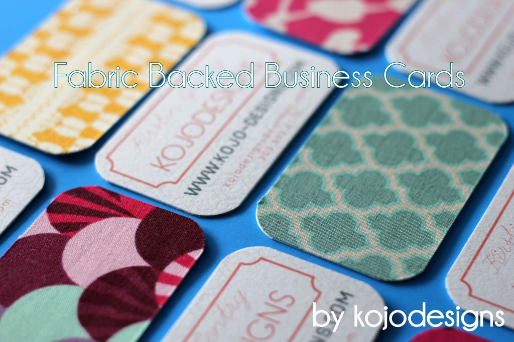 Kojo tutorial fabric backed business cards colourmoves