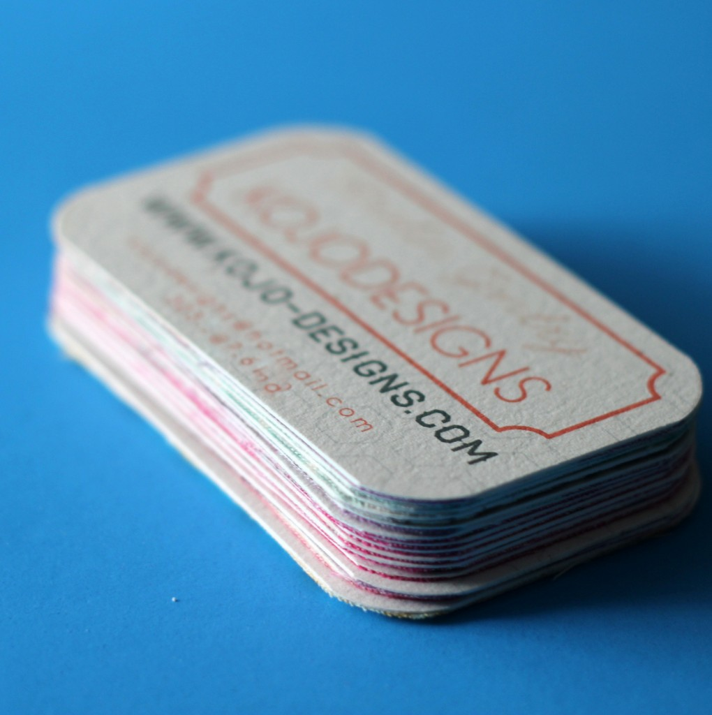 kojo tutorial- fabric backed business cards