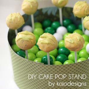 kojo tutorial- DIY cake pop stand