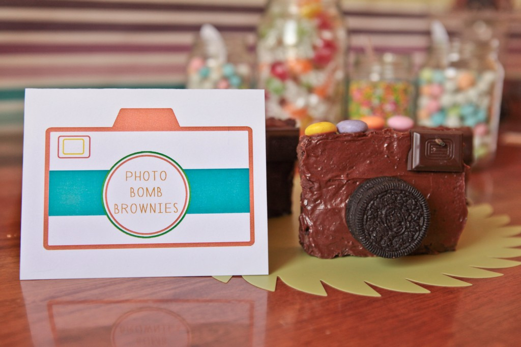 camera party brownies