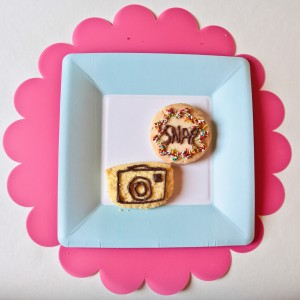 camera party cookies