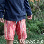 DIY bleach striped shorts
