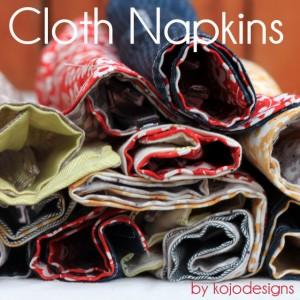 kojo tutorial- cloth napkins with utensil holders