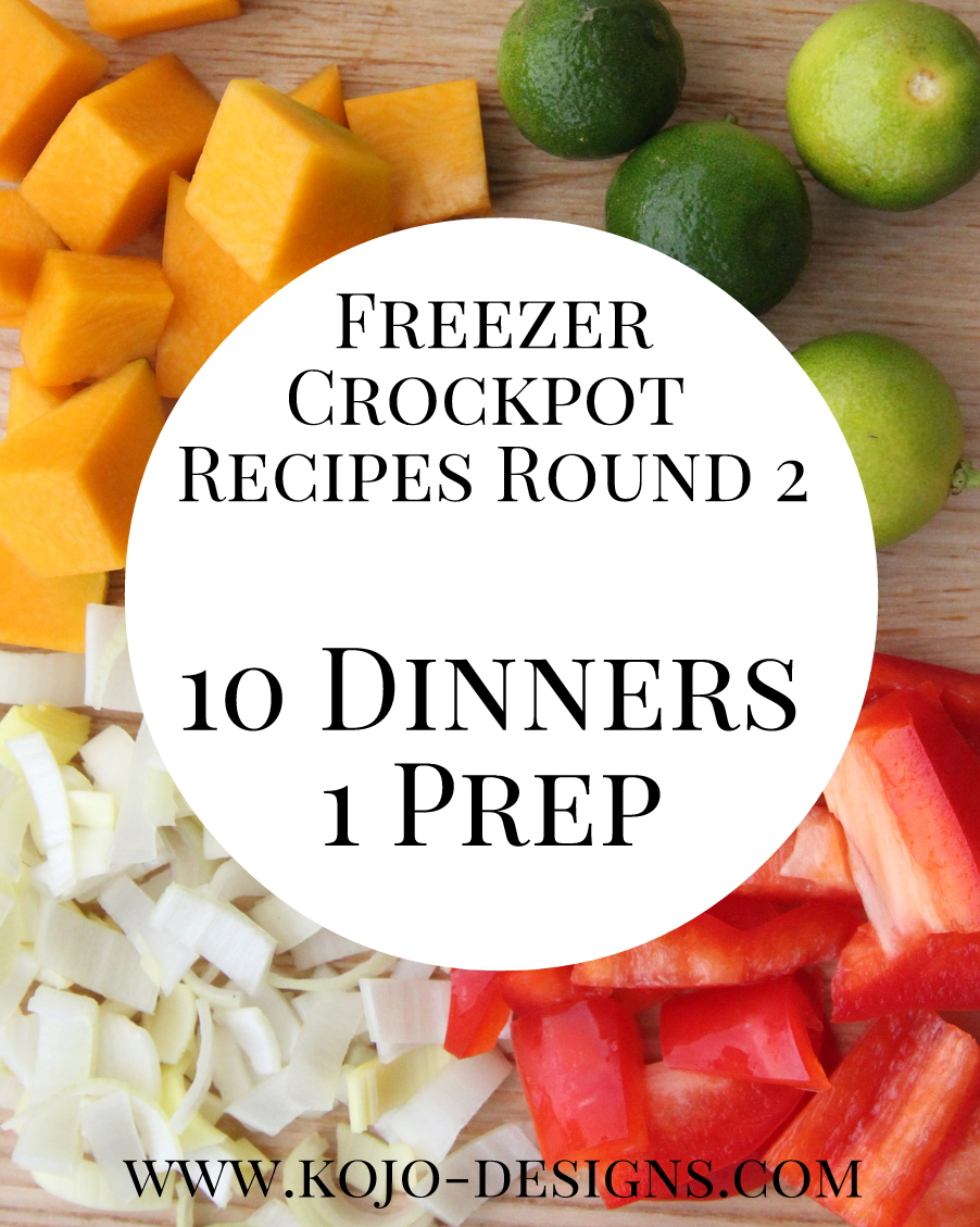 freezer crockpot recipes- ten dinners with just one prep