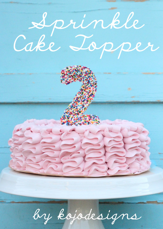 Sprinkle cake topper solutioingenieria Gallery