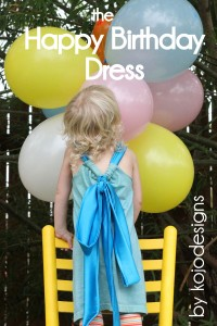 kojo tutorial- the happy birthday dress