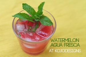 watermelon agua fresca: a farewell to summer