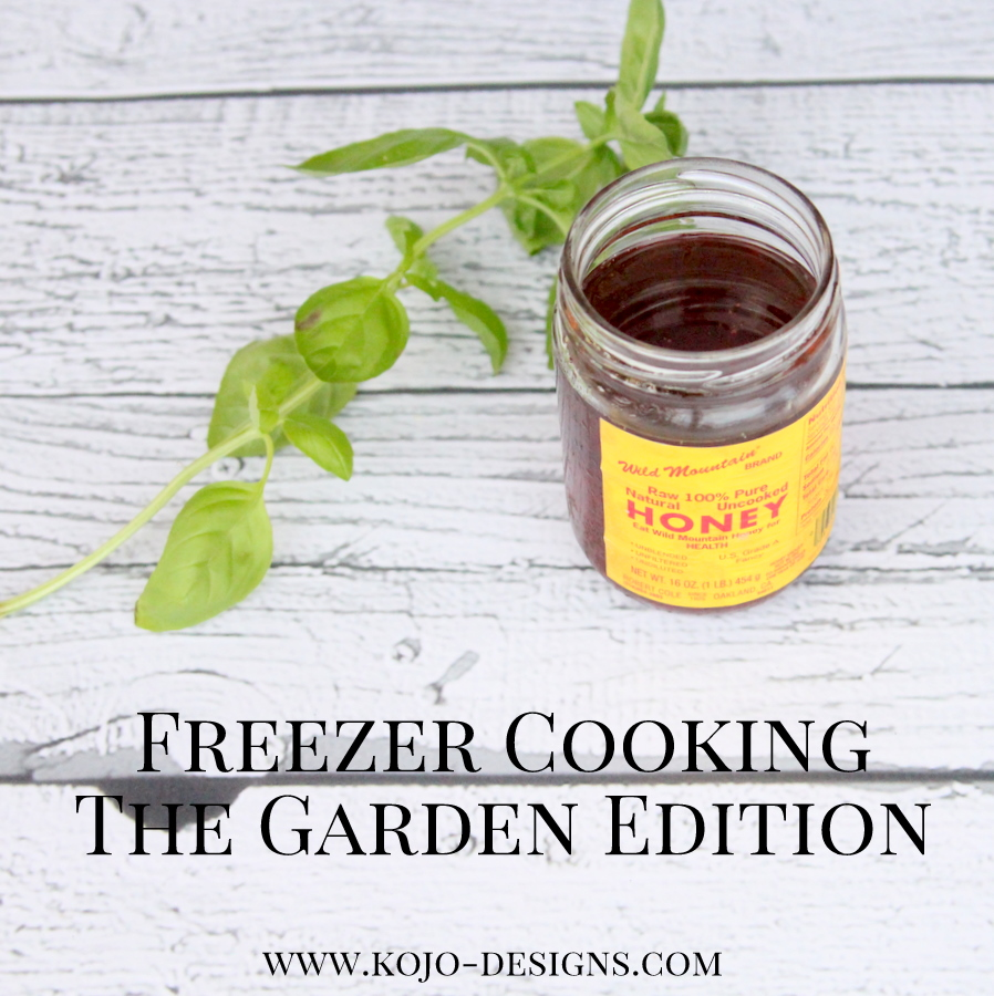 freezer cooking recipes- the garden edition
