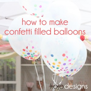 how to make confetti filled 'sprinkle' balloons