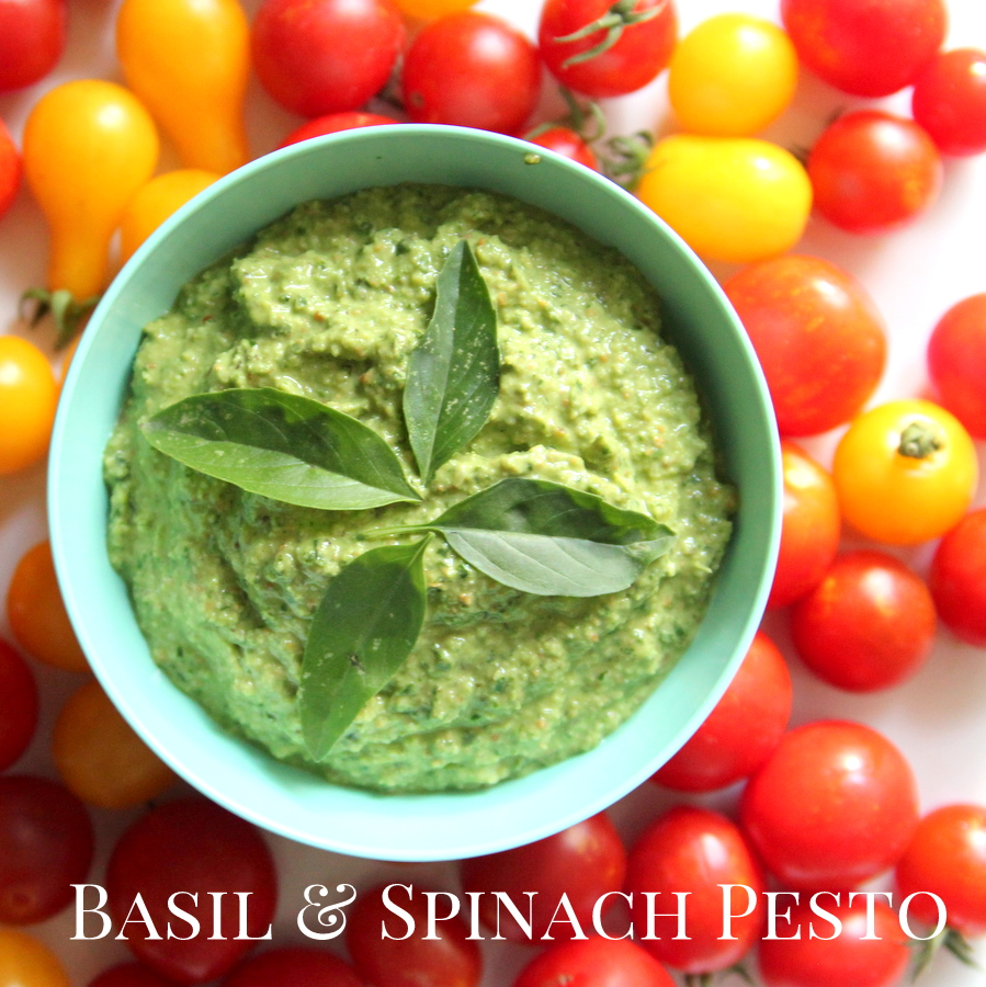 basil and spinach pesto freezer cooking recipe