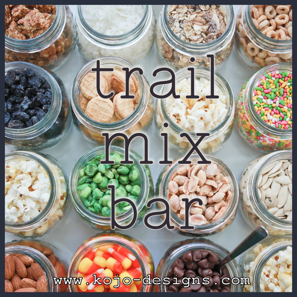 make your own trail mix buffet