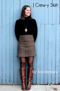 j crew-y skirt by kojodesigns