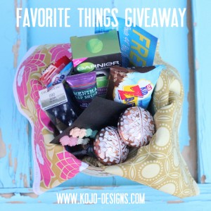favorite things giveaway at kojodesigns