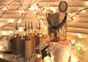 hot cocoa bar, chocolate themed baby shower