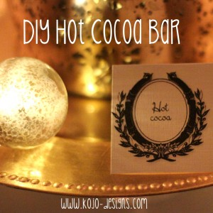 how to make your own hot cocoa bar