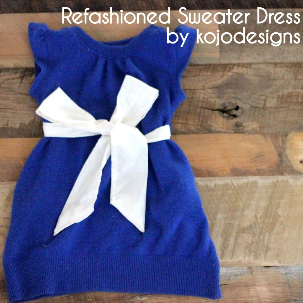refashioned cashmere sweater into a dress