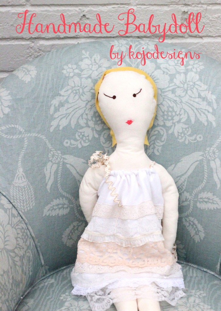 handmade baby doll tutorial by kojodesigns