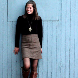 j crew-y winter skirt