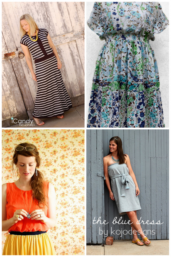 Fall Dress Patterns For Women Hint of Vintage Maxi Dress by