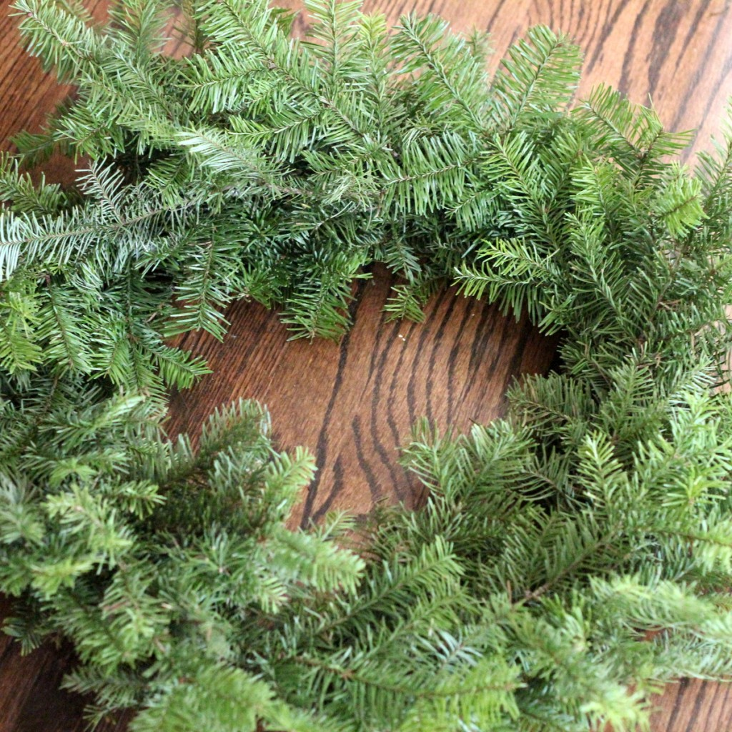 how to make a wreath using your leftover Christmas tree branches