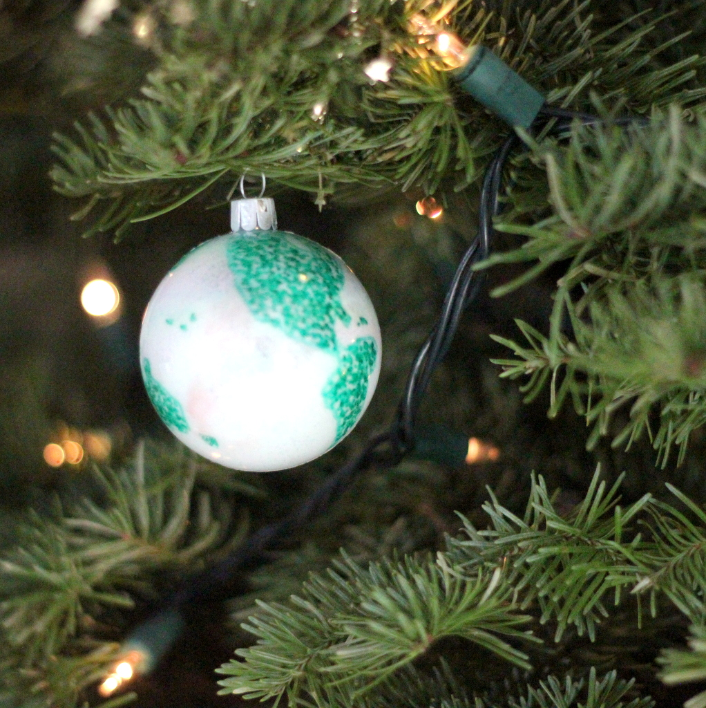 DIY world globe ornament