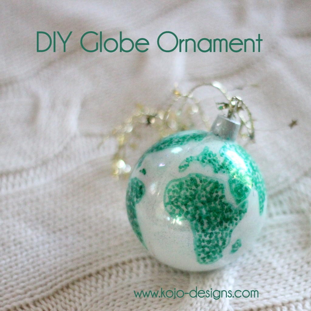 DIY swirled globe ornament