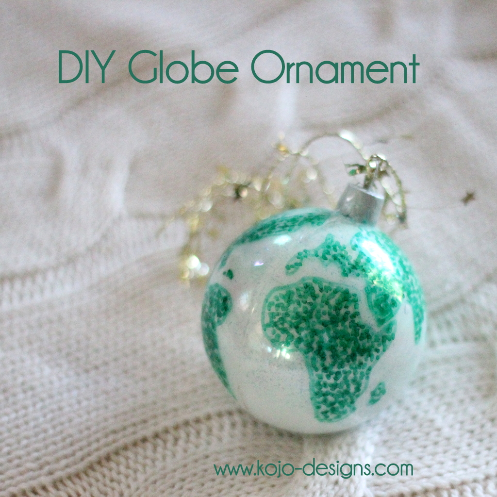 diy world globe christmas ornament