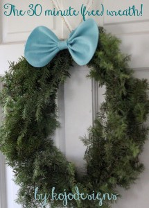 how to make a Christmas wreath in 30 minutes