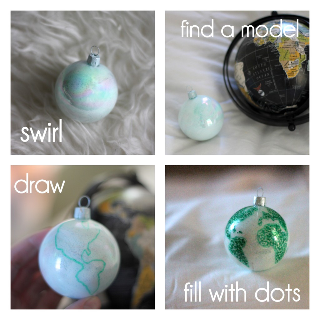 how to make an earth ornament
