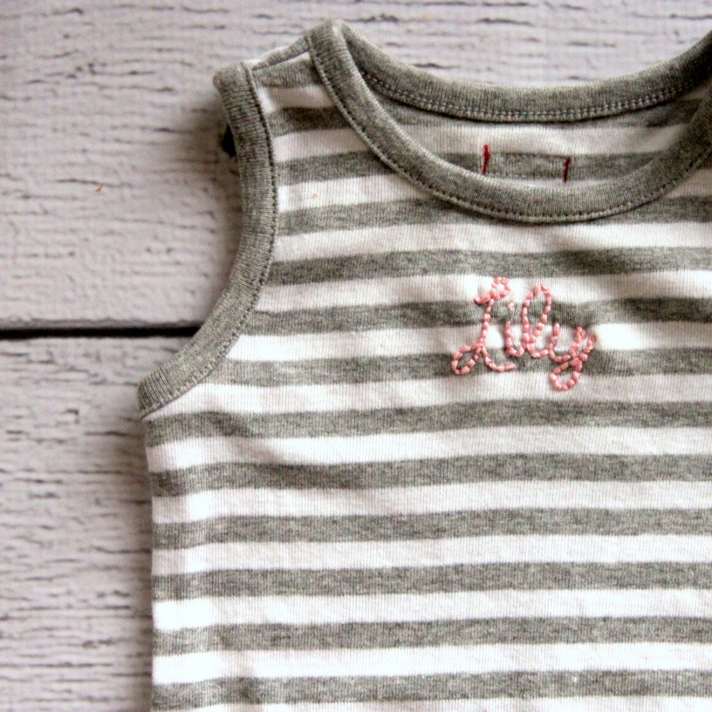 how to make a custom embroidered onesie
