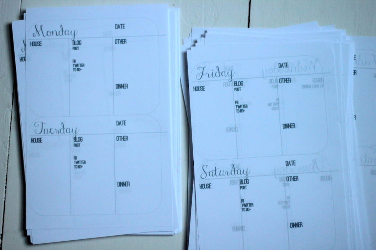 How To Make Your Own Custom 2013 Blog Planner Part 1
