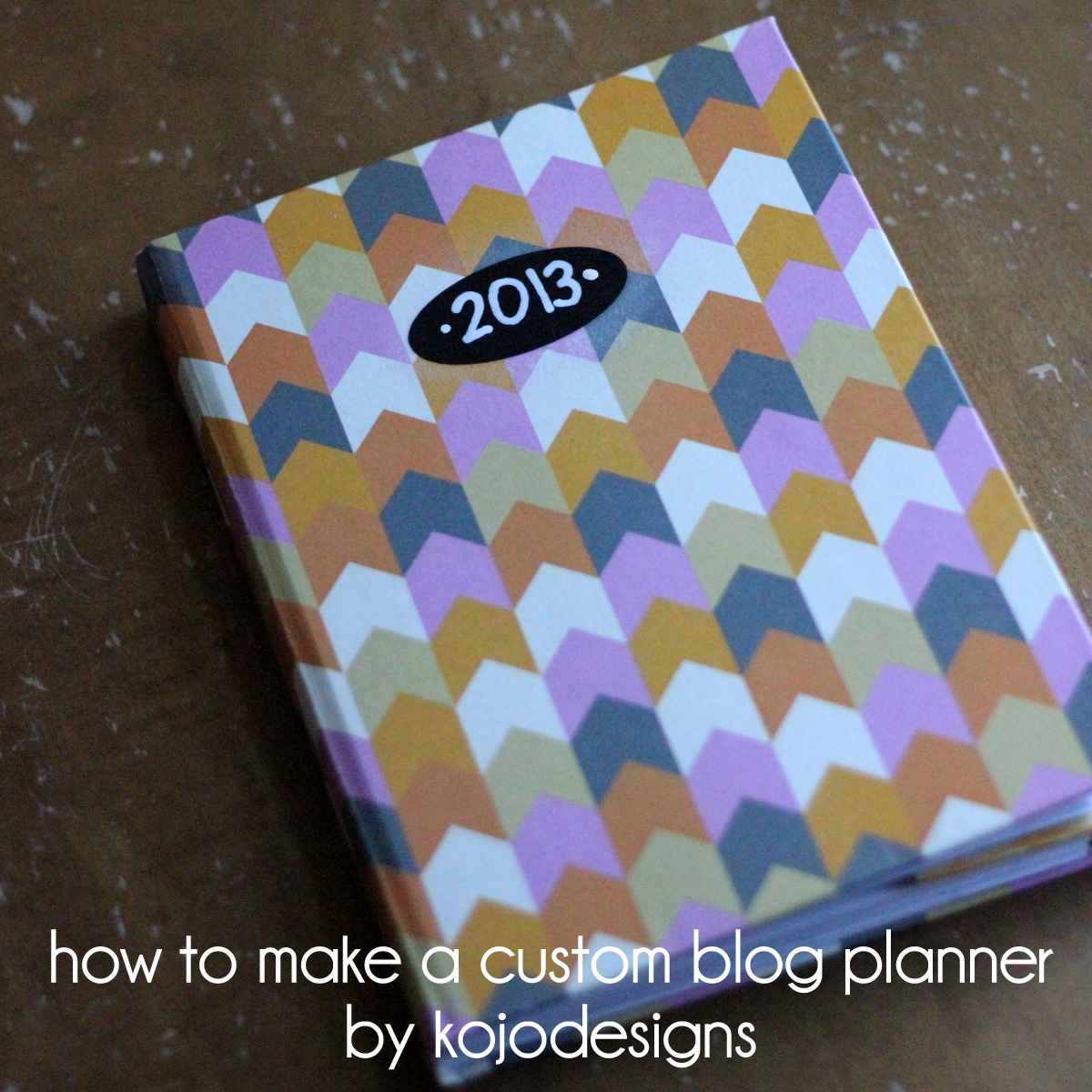 how to make a custom blog planner using an already existing journal or book