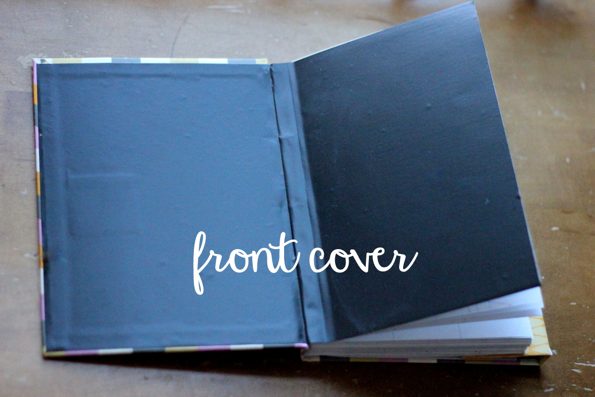 chalkboard front cover 2013 planner