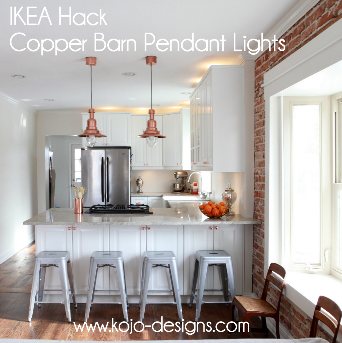 IKEA hack- how to turn an OTTAVA light into a copper barn pendant light
