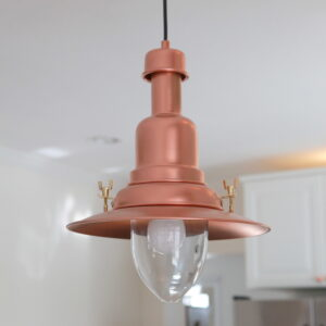 copper barn light ikea hack