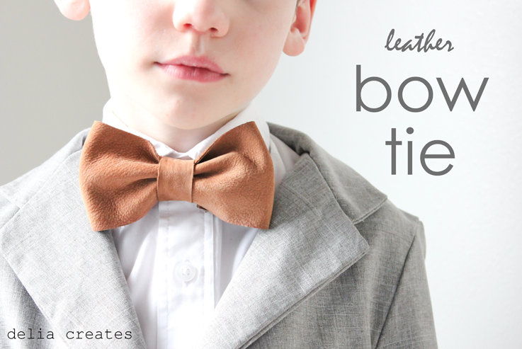 leather bow ties tutorial