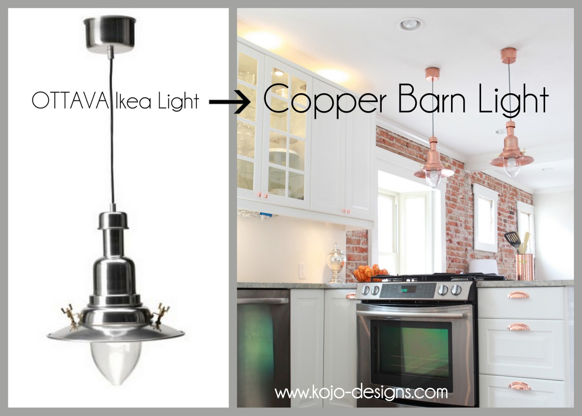Copper Pendant Lights Kitchen Copper Barn Light Ikea Hack