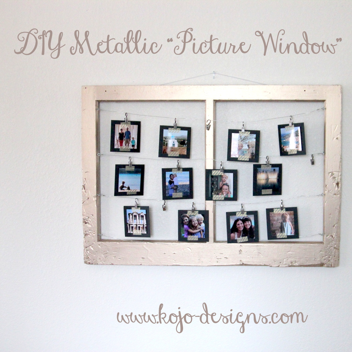 make a metallic picture window